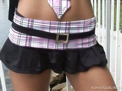 hot girl in miniskirt